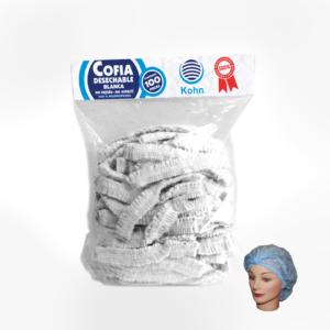 Cofia Kohn blanca
